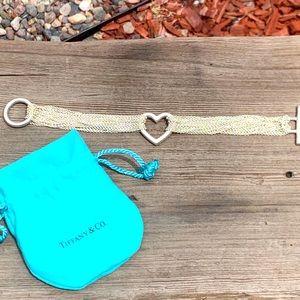 Tiffany & Co Mesh and Toggle Heart Bracelet